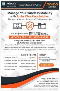 Aruba Event at Network Techlab