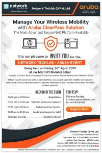 Network Techlab - ARUBA EVENT