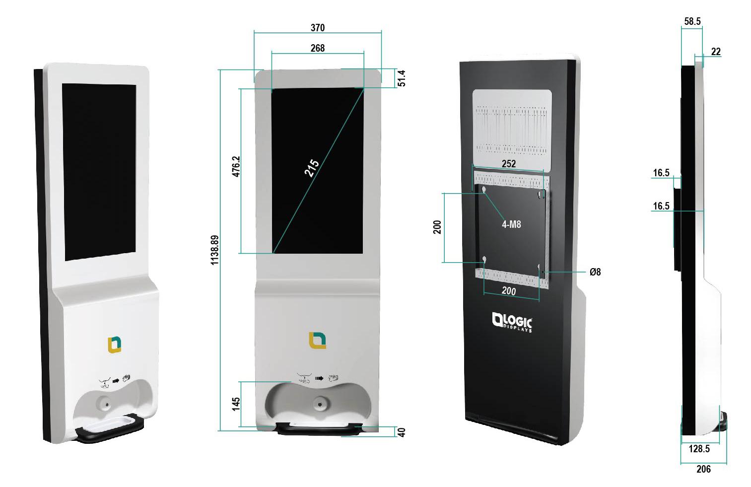 Sanitizer-Kiosk-Dimention-details