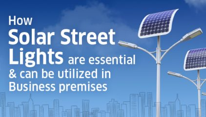 How Solar Street Lights are essential & can be utilized in Business premises…