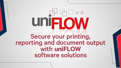 Secure your printing, reporting and document output with uniFLOW software solutions